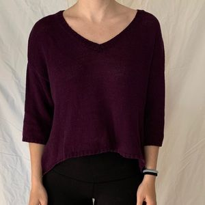 Dark Purple Knit Sweater